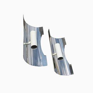 Wandleuchten aus Stahl von Luci Italia, 1970er, 2er Set