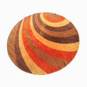 Runder mehrfarbiger Teppich, 1960er