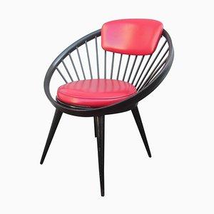 Runder Stuhl von Yngve Ekstrom, 1960er
