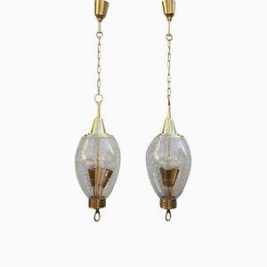 Lámparas de techo vintage de Pietro Chiesa para Fontana Arte, años 40. Juego de 2