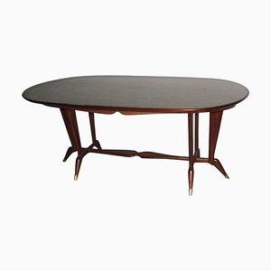 Table de Salle à Manger Ovale Mid-Century, Italie