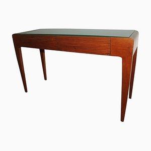 Consola Mid-Century moderna de madera de cerezo, años 60