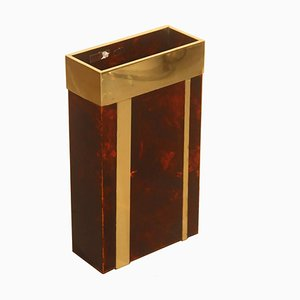 Faux Tortoiseshell Umbrella Stand from Studio Silva, 1970s