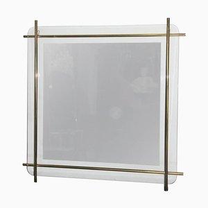 Espejo de pared minimalista, años 70