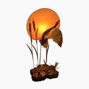 Italian Lacquered Wood Sunset Floor Lamp, 1970s
