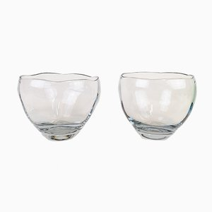 Crystal Bowls by Asta Strömberg, 1950s, Set of 2