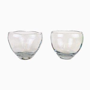 Cuencos de cristal de Asta Strömberg, años 50. Juego de 2