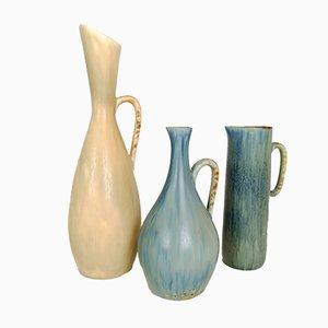 Jarras de cerámica de Carl Harry Stålhane para Rörstrand, años 50. Juego de 3