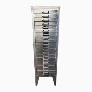 Schedario a 21 cassetti industriale in metallo di Stor