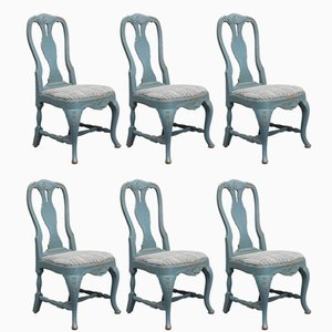 Antique Swedish Side Chairs, 1890s, Set of 6