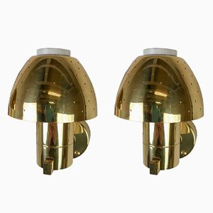 Brass Wall Lamps by Hans-Agne Jakobsson, 1960s, Set of 2