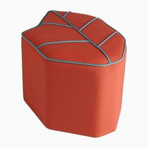 Puf de exterior rojo en forma de hoja de Nicolette de Waart para Design de Nico