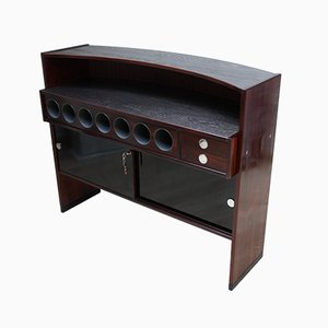 Vintage Freestanding Rosewood Bar from Dyrlund, 1970s