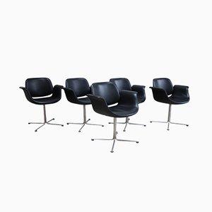 EJ205 Flamingo Chairs by Foersom & Hiort-Lorenzen for Erik Jorgensen Mobelfabrik, 2003, Set of 5