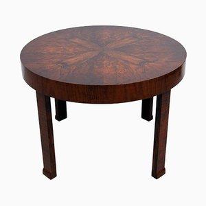 Tavolino da caffè Art Déco in legno di noce, anni '30