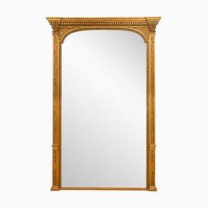 Specchio da camino antico vittoriano dorato, metà XIX secolo