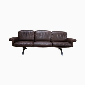 Brown Leather DS31 3-Seater Sofa from de Sede, 1970s