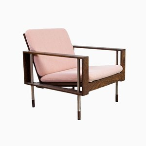 Mid-Century Wengé Armchair from Fristho, 1950s