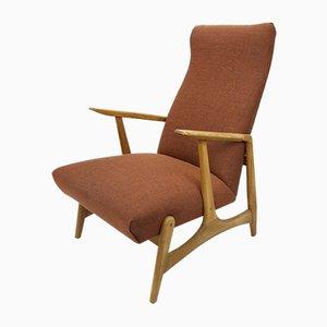 Vintage Scandinavian Oak Lounge Chair