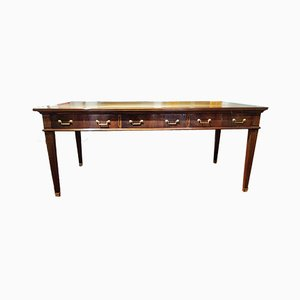 Early 20th Century Louis XVI Walnut & Leather Desk