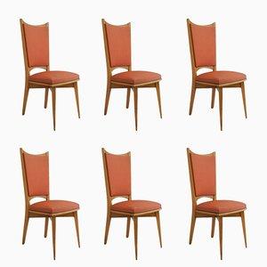Französische Mid-Century Esszimmerstühle, 6er Set