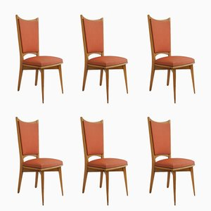 Mid-Century French Dining Chairs, Set of 6