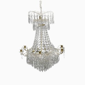 Antique Swedish Prism Chandelier