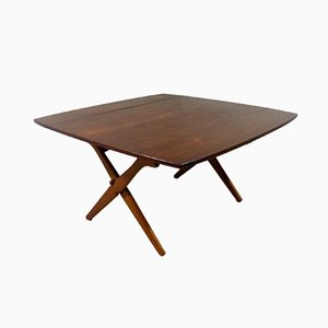 Teak Drop Leaf Table by Arne Hovmand Olsen for Mogens Kold, 1960s