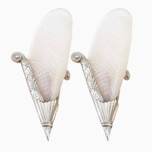 Art Deco Sconces, 1940s, Set of 2
