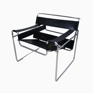 Vintage Wassily Sessel von M. Breuer für Gavina, 1960er