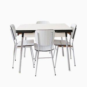 Vintage Küchentisch & 4 Stühle aus Resopal, 1960er