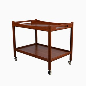 Mid-Century Teak Bar Cart by Hans Wegner for Andreas Tuck, 1960s
