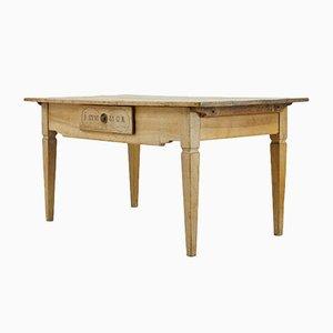 Tavolo in legno di noce sbiancato, fine XIX secolo