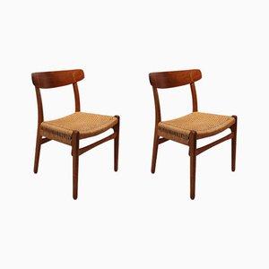 Modell CH23 Stühle von Hans J. Wegner für Carl Hansen & Søn, 1960er, 2er Set