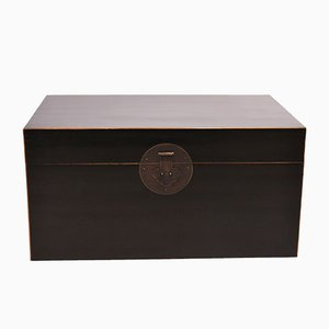 Chinese Black Lacquered Chest, 1940s