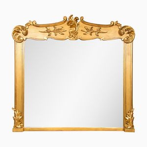 Antique Irish Gilded Overmantle Mirror