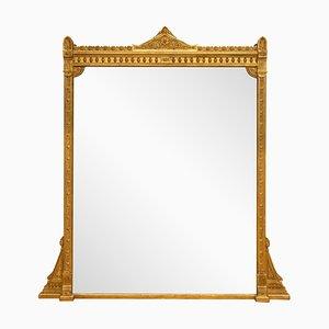 Espejo inglés antiguo dorado, década de 1860