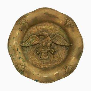 Bassorilievo in bronzo dorato, fine XIX secolo