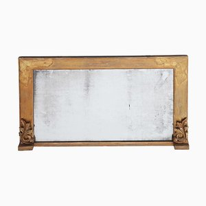 19th Century Gilt Over Mantle Wall Mirror