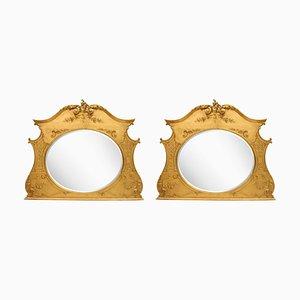 Espejos estilo Adams victorianos. Juego de 2