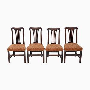 Georgianische Esszimmerstühle aus Eiche, 1800er, 4er Set