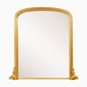 Antique English Overmantle Mirror, 1860s