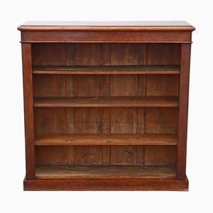 Victorian Adjustable Mahogany Open Bookcase, 1880s
