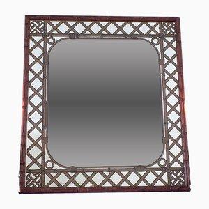 Miroir Vintage en Imitation Bambou