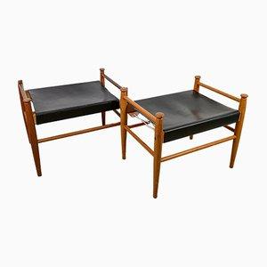 Vintage Sudan Hocker von Lundgren Gillis für Ikea, 1950er, 2er Set