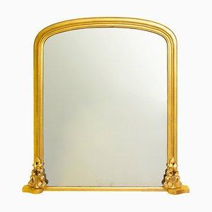 Specchio da camino dorato vittoriano