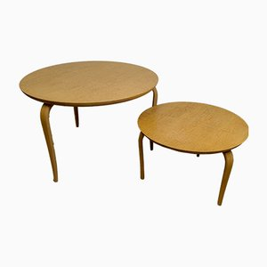 Annika Occasional Tables by Bruno Mathsson for Firma Karl Mathsson, 1980s, Set of 2