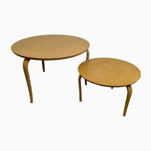 Tavolini di servizio Annika di Bruno Mathsson per Firma Karl Mathsson, anni '80, set di 2