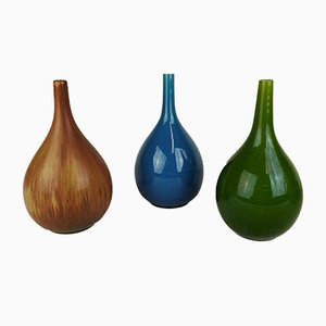 Drop Shaped Vases by Carl Harry Stålhane for Rörstrand, 1960s, Set of 3