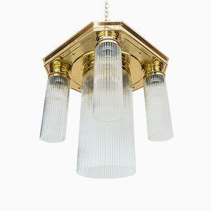 Lámpara de techo modernista con cilindros de vidrio, 1908